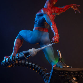 Spider-Man Premium Format™ Figure With Dramatic Background, Tentacle Lights on 2