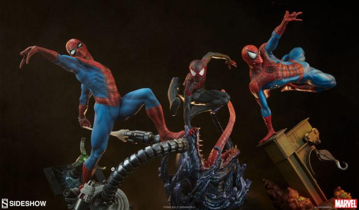 Spider-Man Premium Format™ Figure with Amazing Spider-Man and Miles Morales Premium Format™ Figures