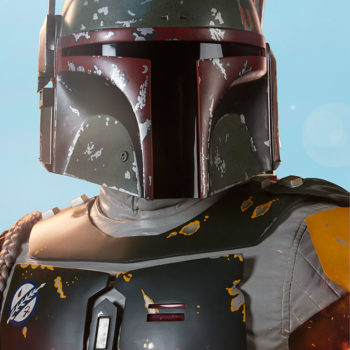 Boba Fett Life-Size Bust Portrait Close Up with Tatooine Background