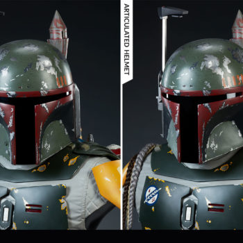 Boba Fett Life-Size Bust Articulated Helmet Swivel Comparison