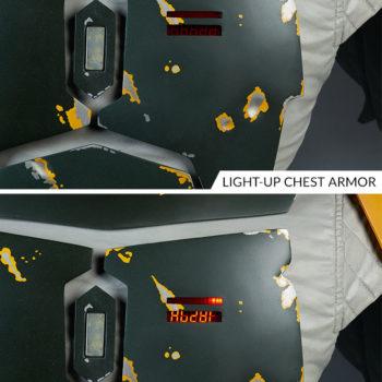 Boba Fett Life-Size Bust Light Up Chest Armor Comparison