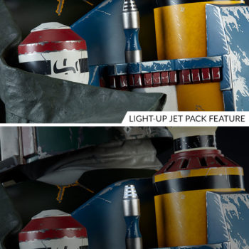 Boba Fett Life-Size Bust Light Up Jet Pack Feature