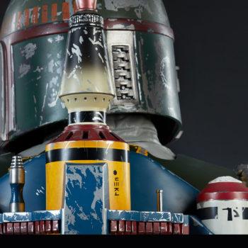 Boba Fett Life-Size Bust Back of Helmet and Jet Pack Detail