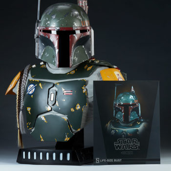 Boba Fett Life-Size Bust With Art Card