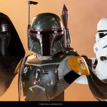 Boba Fett Life-Size Bust with Stormtrooper and Kylo Ren Busts