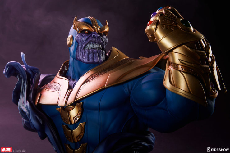 Thanos Bust Drama Lighting Image