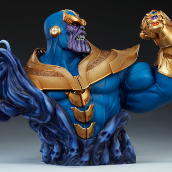 Thanos Bust Open Lit Image 7- Side Profile View