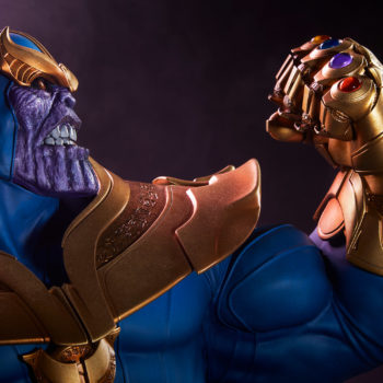 Thanos Bust Dramatic Profile-View Image