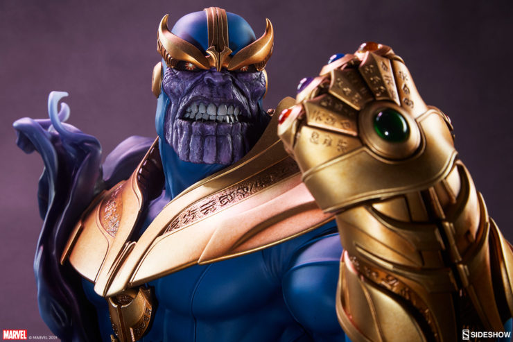 The Thanos Bust Brings Balance to Your Universe of Marvel Collectibles
