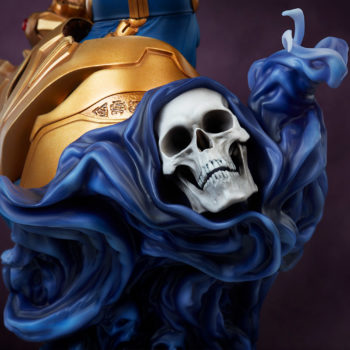 Thanos Bust- Mistress Death on Back of Statue