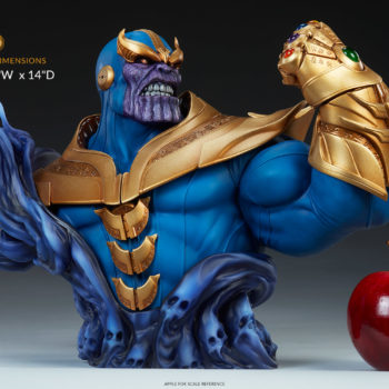 "Thanos Bust Collectible Measurement- 10.5"" H x 7"" W x 14"" D"