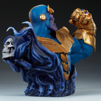 Thanos Bust Open Lit Image 6- with Mistress Death