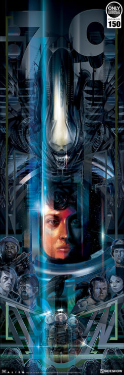 Alien 40th Anniversary Fine Art Print by Orlando Arocena