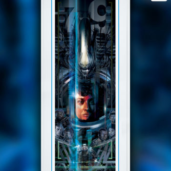 Alien 40th Anniversary Fine Art Print by Orlando Arocena White Framed Edition