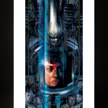 Alien 40th Anniversary Fine Art Print by Orlando Arocena Unframed Edition