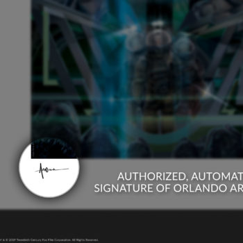 Alien 40th Anniversary Fine Art Print by Orlando Arocena Authorized Autopen Signature on Unframed Edition
