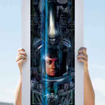 Alien 40th Anniversary Fine Art Print by Orlando Arocena Unframed Open Lighting Shot