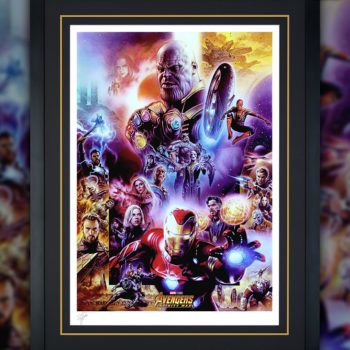 Avengers: Infinity War Fine Art Print by Tsuneo Sanda Black Framed Edition