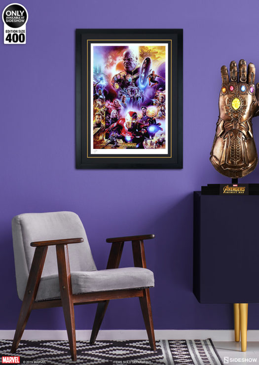 Avengers: Infinity War Fine Art Print by Tsuneo Sanda Black Framed Edition Environment Shot
