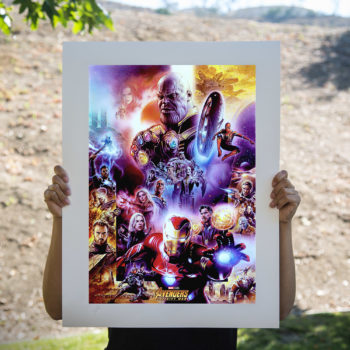Avengers: Infinity War Fine Art Print by Tsuneo Sanda Unframed Edition Open Lighting