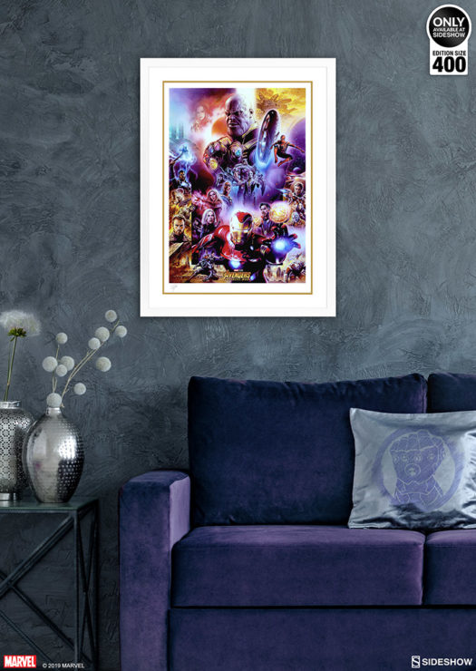 Avengers: Infinity War Fine Art Print by Tsuneo Sanda White Framed Edition Environment Shot