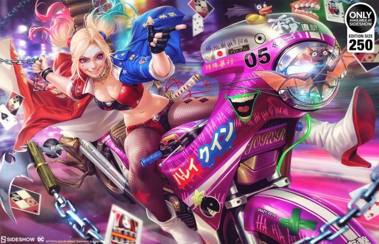 Rev Up Your Collection with the Tokyo Harley Quinn Fine Art Print by Derrick Chew