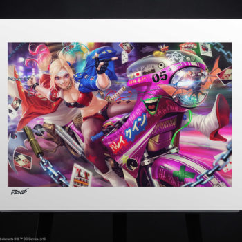 Tokyo Harley Quinn Fine Art Print by Derrick Chew Unframed Edition