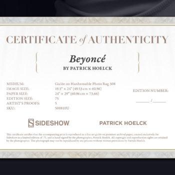 Beyoncé Deluxe Fine Art Print by Patrick Hoelck Certificate of Authenticity