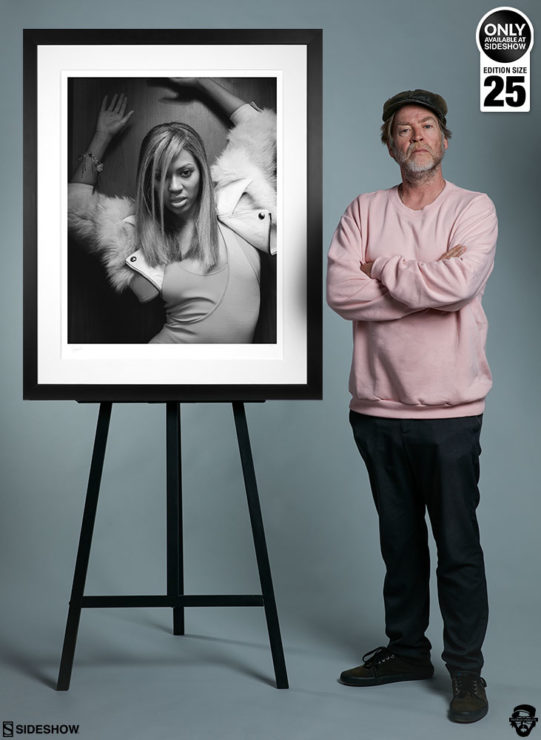 Beyoncé Deluxe Fine Art Print by Patrick Hoelck Framed Edition with Photographer for Scale