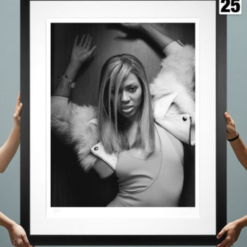Beyoncé Deluxe Fine Art Print by Patrick Hoelck Black Framed Edition