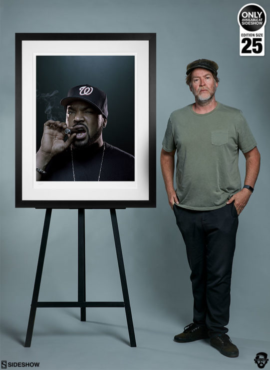 Ice Cube Deluxe Fine Art Print by Patrick Hoelck Framed Edition with Photographer for Scale