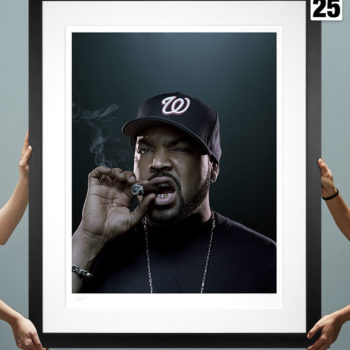 Ice Cube Deluxe Fine Art Print by Patrick Hoelck Black Framed Edition