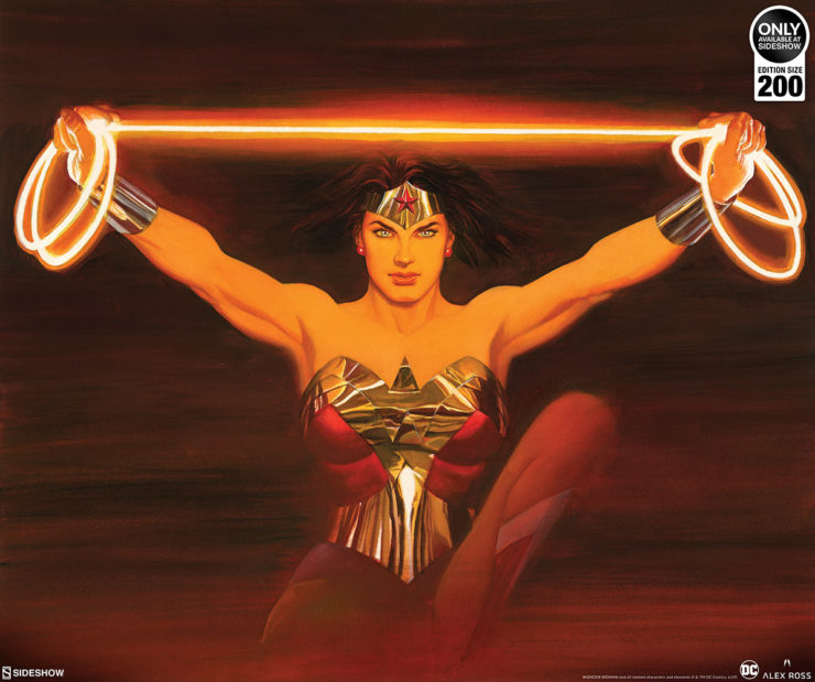 Bring the Strength of Wonder Woman to Your Wall with the Fierce Fine Art Lithograph by Alex Ross