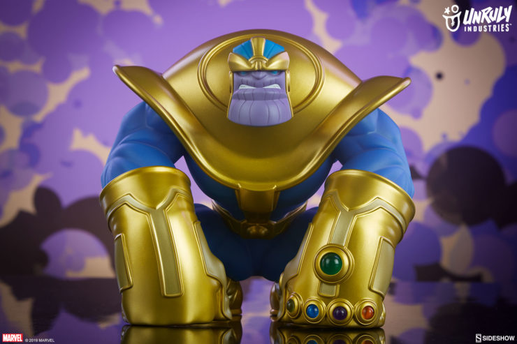 The Mad Titan Designer Toy by Joe DellaGatta- Unruly Industries With Purple Background 1