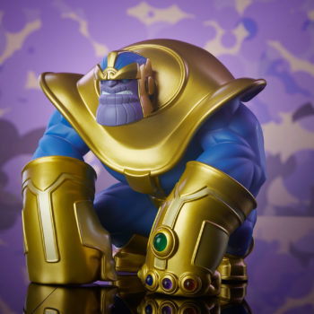 The Mad Titan Designer Toy by Joe DellaGatta- Unruly Industries with Purple Background 2