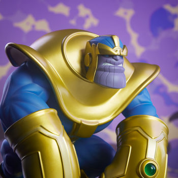 The Mad Titan Designer Toy by Joe DellaGatta- Unruly Industries With Purple Background 3