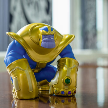 The Mad Titan Designer Toy by Joe DellaGatta- Unruly Industries on a Desk