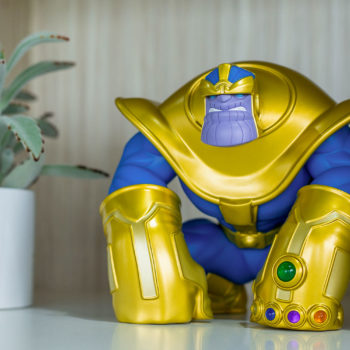 The Mad Titan Designer Toy by Joe DellaGatta- Unruly Industries on a Shelf