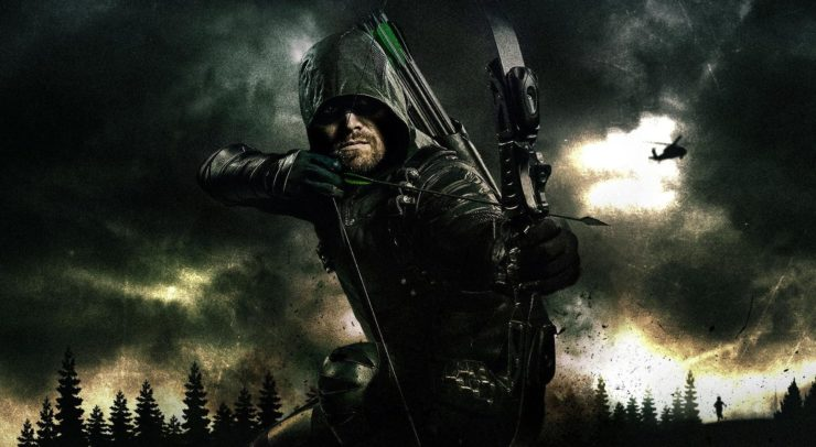 The Arrow Poster, with Oliver Queen drawing his bow