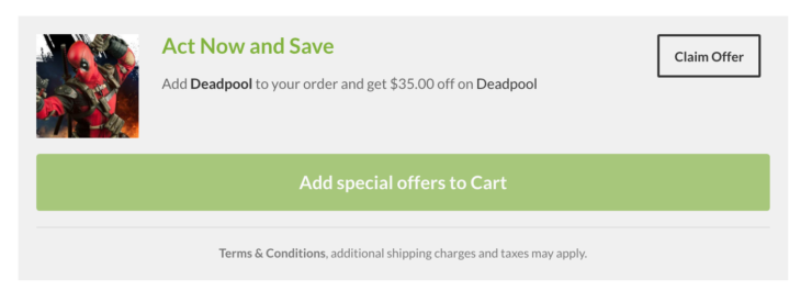 Deadpool Sixth Scale Figure Promo Offer