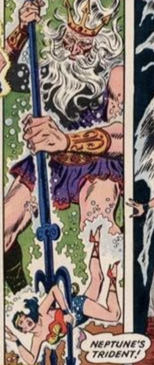 Wonder Woman exclaiming Neptune's Trident!