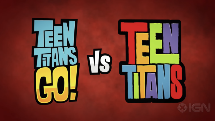 Teen Titans GO! vs. Teen Titans Title Placard