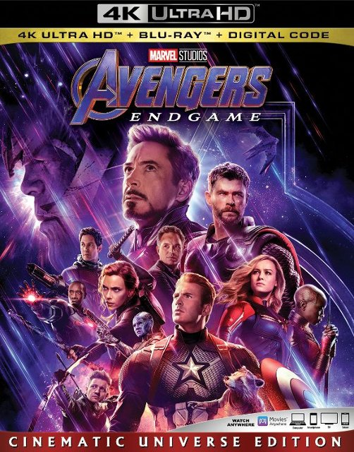 Avengers Endgame DCD and Blu-Ray release