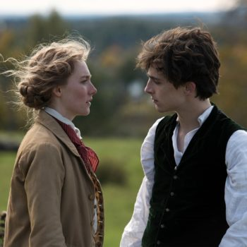 New Photos from Little Woman showing Saoirse Ronan and Timothee Chalamet