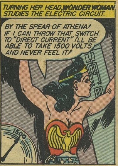 Wonder Woman saying By the Spears of Athena!