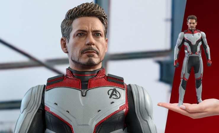 Tony Stark Team Suit Sixth Scale Figure by Hot Toys