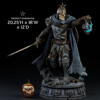 "Relic Ravlatch: Paladin of the Dead Premium Format™ Figure Measurements- 20.25"" H x 18"" W x 12"" D"