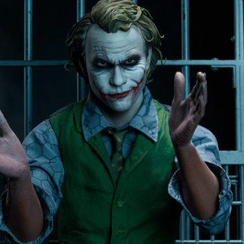 The Joker Premium Format™ Figure Exclusive Edition Dramatic Lit Portrait 1