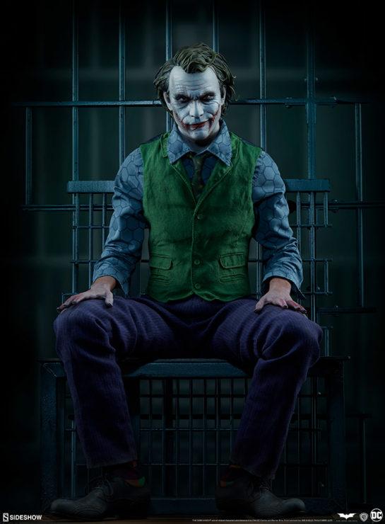 The Joker Premium Format™ Figure in Jail Cell Scene