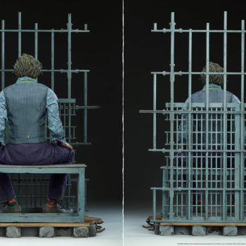 The Joker Premium Format™ Figure Jail Cell Bars reconfiguration example- back side of the figure